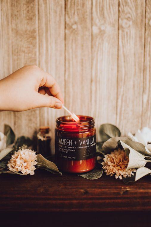 Amber + Vanilla Candle - Copy