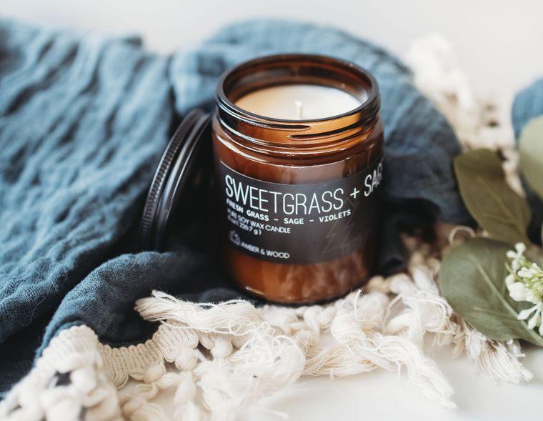 Sweetgrass + Sage Candle