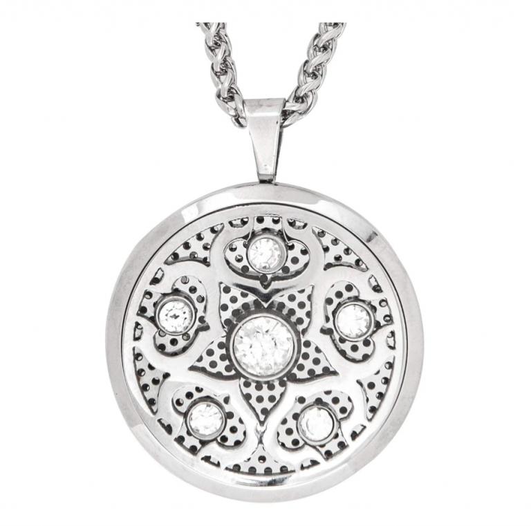 circle crystal necklace - Copy