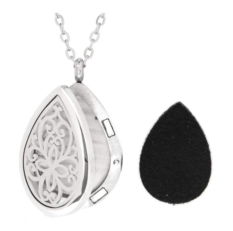 floral teardrop necklace - Copy